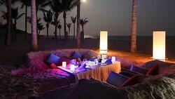 Cabana Sand Castle Dinner