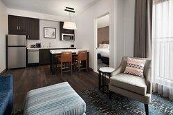 One-Bedroom Queen/Queen Suite - Kitchen