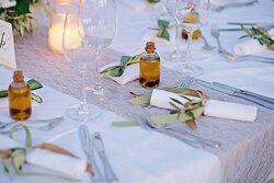 Westin Pool - Wedding Table Decoration Detail