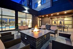 Outdoor Patio With Grill & Fire Pit