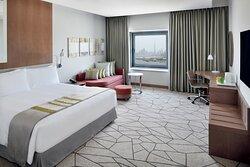 King Bed with Dubai skyline views