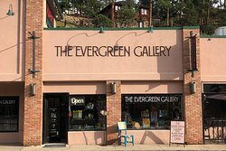 The Evergreen Gallery on the Historic Main Street of Downtown Evergreen, Colorado.