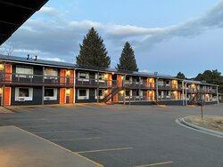 Outside view of units and parking