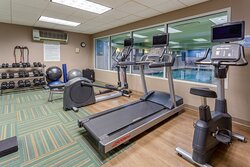 Work up a sweat in the Fitness Center
