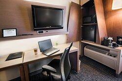 Guest Room Work Desk & Amenities