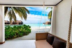 Beachfront Deluxe Guest Room Patio