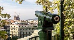 Terraza con vista a Sagrada Familia