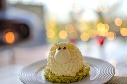 Percy the Panacotta Sheep  - part of the Spa Trail