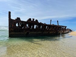The Maheno Shipwreck is amazing. Be aware of rust!