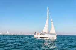 Your luxury yacht.  The most exciting experience in Barcelona.
