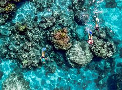 Snorkeling on one of our many snorkeling spots