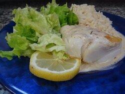 Cabillaud sauce Normande ciboulette
