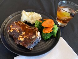 Always a reward after a long day, our dry aged New York steak goes great with our Route 66 Old Fashioned.
