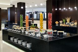 Horizon Buffet Setup with fresh fruits, continental pastries