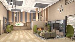 Renovated Hotel Lobby