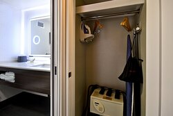 Closet with in Room Safe, Iron & Ironing Board