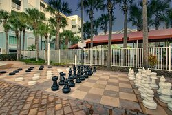 Outdoor Checkers and Chess - Outdoor Pool Area