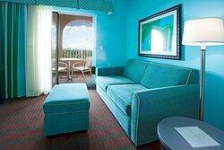 King bed Corner Balcony Suite