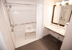 ADA/Handicap accessible Guest Bathroom with mobility tub.