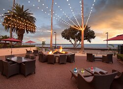 Sunsets from the Crowne Plaza Ventura Beach Hotel Fire Pit
