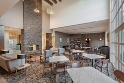 Enjoy our cozy lobby and warm yourself up next to the chimney