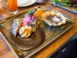 Santo Mezcal serves up tasty Mexican favorites like Mole Negro.