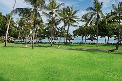 Gardens and beach