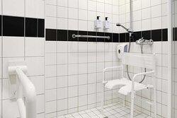 scandic solsiden room disabled bathroom