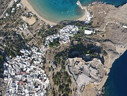 lindos panoramic view rhodes island rhodes taxi4you