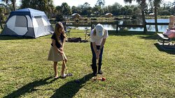 Primitive Camping and Croquet