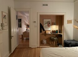 The bedroom in the Dreamer's Suite