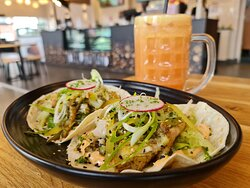 Our Soft Shell Tacos, available in either Fish or Beef options, only for $16!