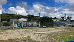 何度も宮古島へは来ているが、唯一大神島には行った事が無かったので行ってみる事に・・・  事前にネット等で調べたら島内ガイドがあるらしいとの事で、天気の良い日を選び行く前日に島内ガイドさんの予約をして来島。  大神島にはトイレはあるが水飲み場も無いくらい何もない島なので、島内ガイドさんが居ないと大神島へ何しに行ったのか?分らないと思う。  当日ガイドさんは、おぷゆう食堂の旦那さんとおぷゆう食堂の看板犬でした。  島内ガイドさんを頼んだおかげで、島内の観光はゴルフカートでの移動が快適で、島の歴史などの話を聞けて有意義な大神島観光となりました。  お勧めパターンは、来島前日までにガイドさんの予約を朝イチにして、朝ごはんを食べずに朝イチの便で大神島へ渡り、ガイドさんの案内で島内観光をし、おぷゆう食堂で「カーキたこ丼」を食べて、宮古島行きの朝イチ便で戻るのがベストだと感じました。