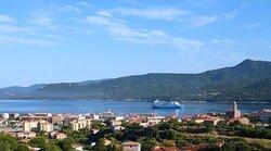 vue panoramique mer depuis Casa Régina