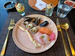 seafood and sashimi