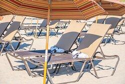 Beach Chairs and Amenities