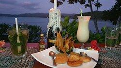 Super restaurant au bout de la plage