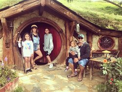 Was a great experience to view hobbiton movie set, the set up was amazing all the details of being on set you would expect to see in the movie were there right down to the green dragon inn, we were offered ginger beer, cider, or a beer and the kids had hot chocolates. All the staff were lively and most in character to was a beautiful set up amongst New Zealand's lush green hills, us adults and the kids really enjoyed our tour, next time we will book the lunch as it was booked out when we went.