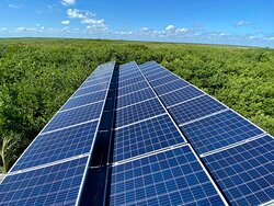 We generate our electricity from solar panels !