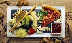 Cheese and Grapes at Spaccanapoli