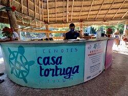 Front desk at Cenotes Casa Tortuga Tulum