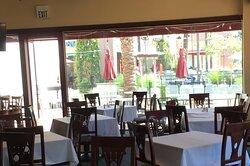 View of Arte Cafe back patio.