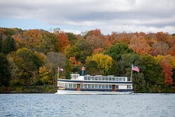 The Grand Belle on Lake Geneva in the fall