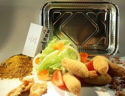 MENU: Croquetas CASERAS, de pollo al curry