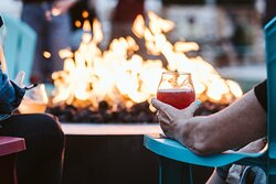 Nothing better than a beverage and relaxing around the firepit