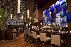 The Azure Bar offers a contemporary space to meet friends