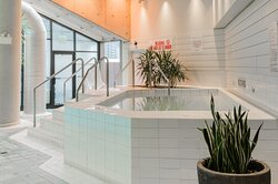 Unwind in our hot tub after a busy day