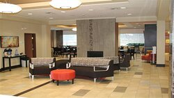 Lobby Lounge with Fireplace and 24 hour Coffee and Tea