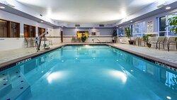 Enjoy our indoor swimming pool open 24 hours