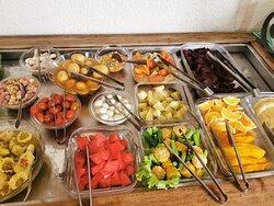 Saladas saudáveis e opções vegetarianas